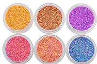 Набор меланж(сахар)для дизайна ногтей 6 цветов