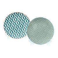 Тарелка керамическая Серая 21 см