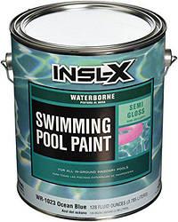 Краска для бассейнов INSLX Pool paint, Цвет океанский голубой, белый, 3.78л (США)
