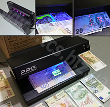 PRO 12 PM LED Універсальний детектор валют, фото 2