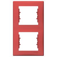 Рамка 2-местная верт Красный Sedna Schneider, SDN5801141