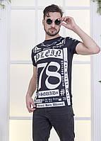 Молодежная футболка с необычным принтом для мужчин