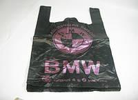 """Чёрные пакеты майка с надписью """"BMW"""" (БМВ)"""