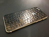 """Декоративная защитная пленка для Iphone 6 """"аллигатор коричневый"""", фото 1"""