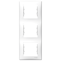 Рамка 3-местная верт Белый Sedna Schneider, SDN5801321