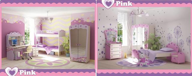Детская комната Pink варианты интерьера