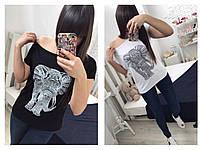 Женская футболка со слоном, фото 1