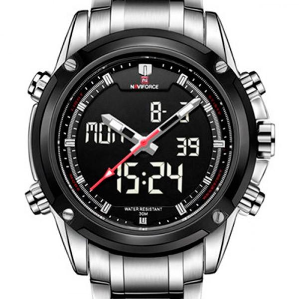 Мужские часы Naviforce Aero Silver
