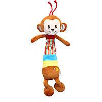 Мягкая музыкальная подвеска в коляску Мартышка Happy Monkey