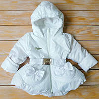 Куртка белого цвета для девочек на рост 86-116 см (весна-осень), фото 1
