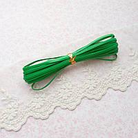 Ремень для кукол, отрез 50 см, ширина 3 мм - зеленый