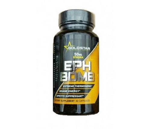 Жиросжигатель Goldstar EPH Bomb 50 mg Ephedra 60 капсул, фото 2