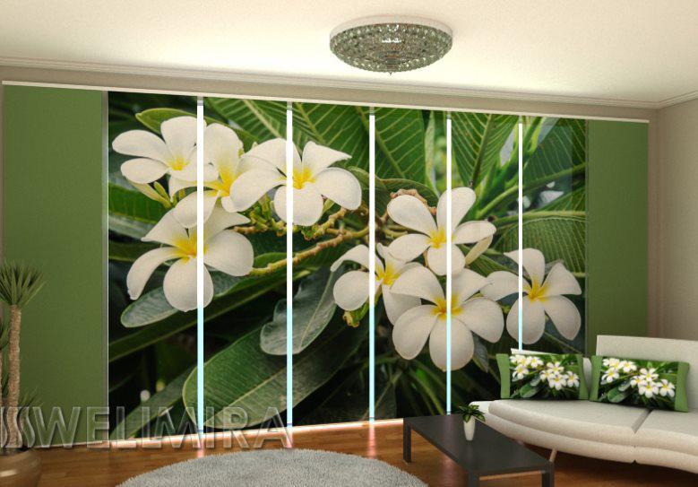 Панельная штора Тропический кустарник