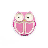 Тарелка для девочки из бамбука Owl Tiny Footprint