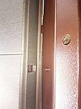 """Входная дверь в квартиру """"Тифани"""" серии """"Элит гнутый профиль"""" (Венге серый продольный+дуб вулканический), фото 4"""