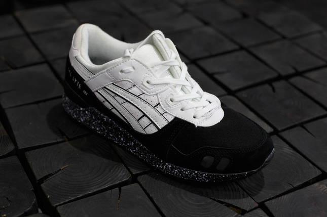 Мужские кроссовки Asics Gel-Lyte 3.Черные с белым,Замша, фото 2