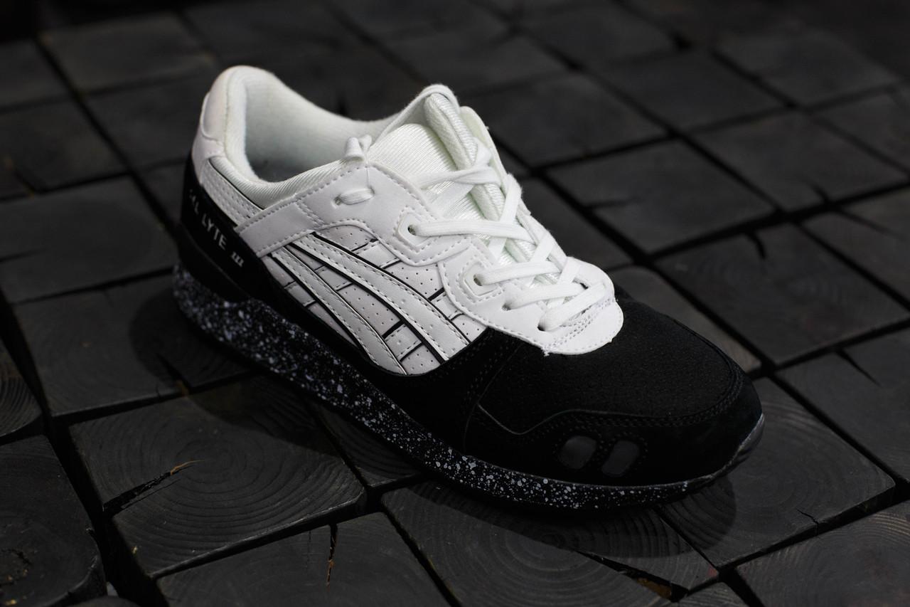 74cde9f4251 Мужские кроссовки Asics Gel-Lyte 3.Черные с белым,Замша