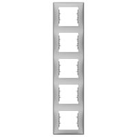 Рамка 5-местная верт Алюминий Sedna Schneider, SDN5801560