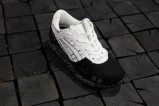 Мужские кроссовки Asics Gel-Lyte 3.Черные с белым,Замша, фото 3