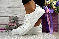 Кросівки-кеди жіночі Puma, білі (шкіра). 32-39р