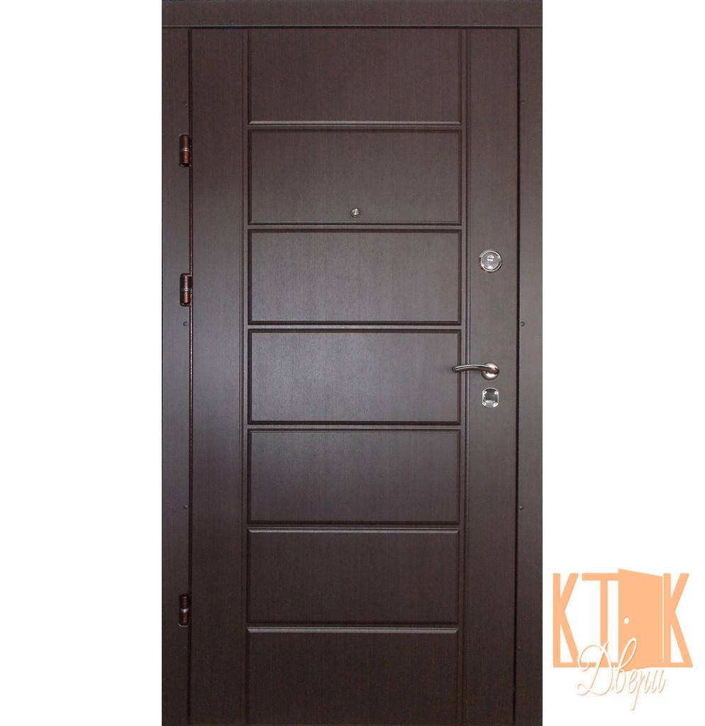 """Входная дверь в квартиру """"Канзас"""" серии """"Премиум плюс"""" (венге)"""