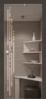 Двери межкомнатные Феникс, серия City Line, модель Eclissi (зеркало графит)с рисунком