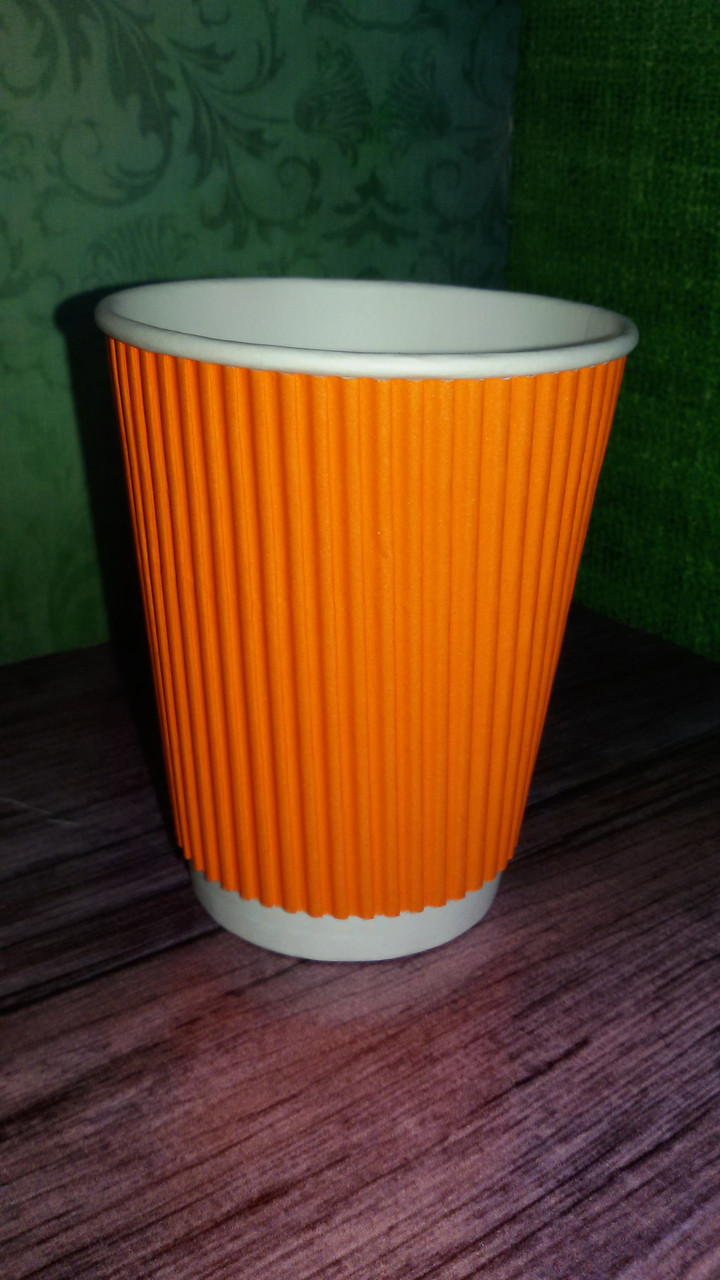 Одноразовый гофрированный стакан CASHER 110 мл