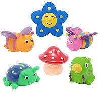 Набор игрушек для ванны Baby Team Друзья на полянке 6 шт (9056)