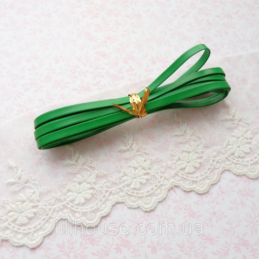 Ремень для кукол, отрез 50 см, ширина 5 мм - зеленый