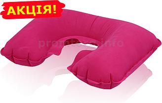 Надувная подушка для путешествий, цвет малиновый, размер XL (26см х 40см) для женщин и мужчин