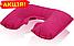 Надувная подушка для путешествий, цвет малиновый, размер XL (26см х 40см) для женщин и мужчин, фото 2