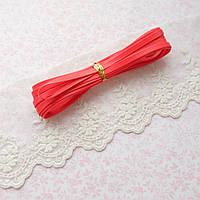 Ремень для кукол, отрез 50 см, ширина 5 мм - красный