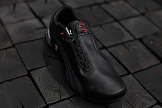 Мужские кроссовки Puma Ferrari.Черные,ЭКО кожа , фото 3