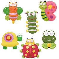 Набор игрушек для ванны Baby Team Садовые друзья 6 шт (9057)