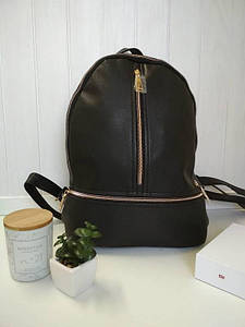 Черный рюкзак для девушек 30 х 22 х 11 см