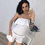 Женский костюм двойка (топ+шорты), фото 4