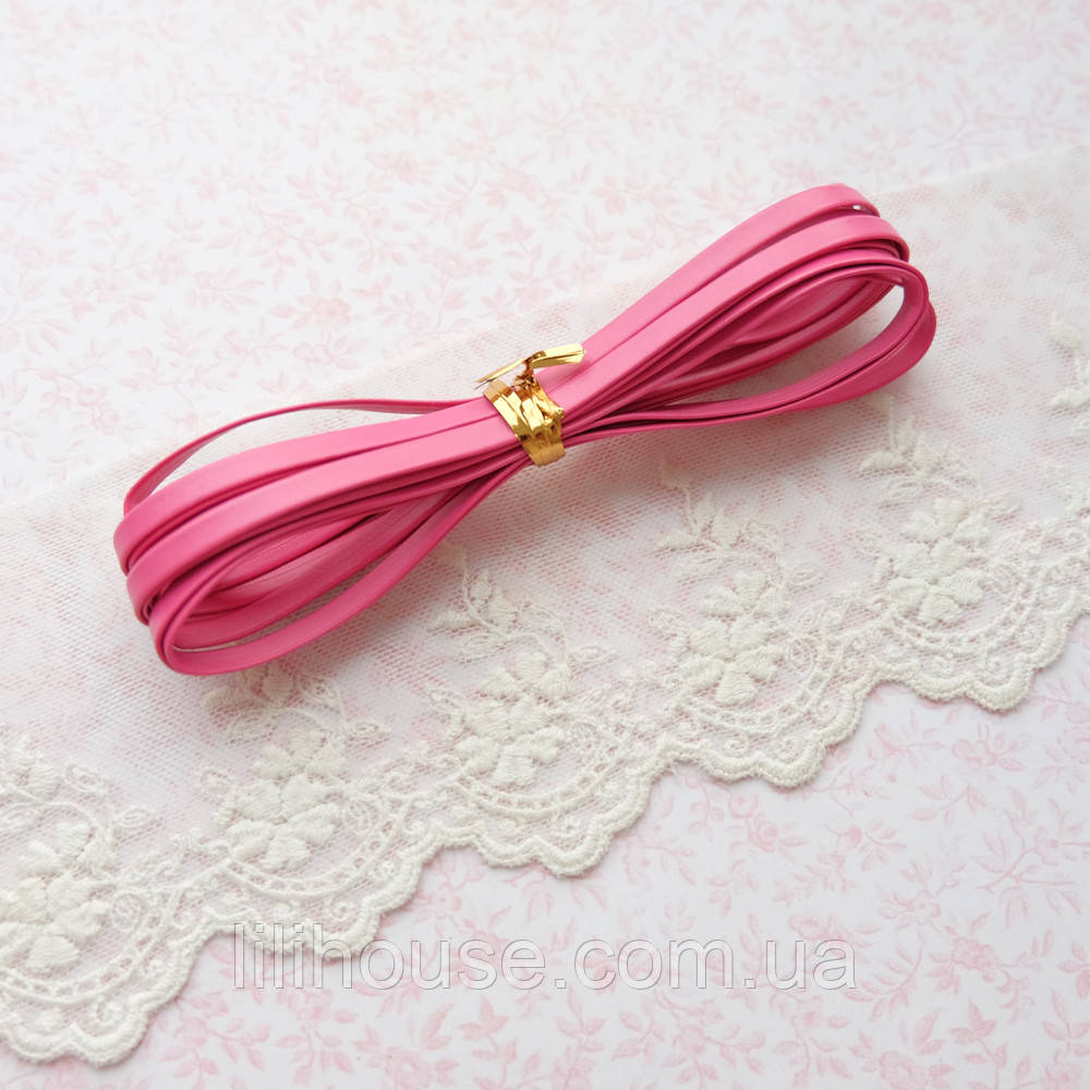 Ремень для кукол, отрез 50 см, ширина 5 мм - ярко-розовый
