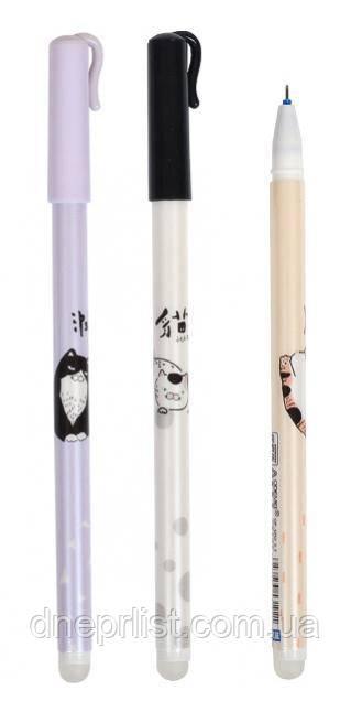"""Ручка гелевая """"пиши-стирай"""" синий """"Cats"""", 0.5 мм (GP-3252)"""