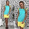 Платье двухцветное яркое трикотажное разные цвета DV2249