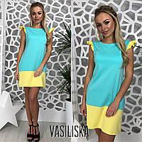 Платье двухцветное яркое трикотажное разные цвета DV2249, фото 1