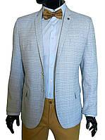 Летний мужской пиджак в клетку №94/2 L - MARINO, фото 1