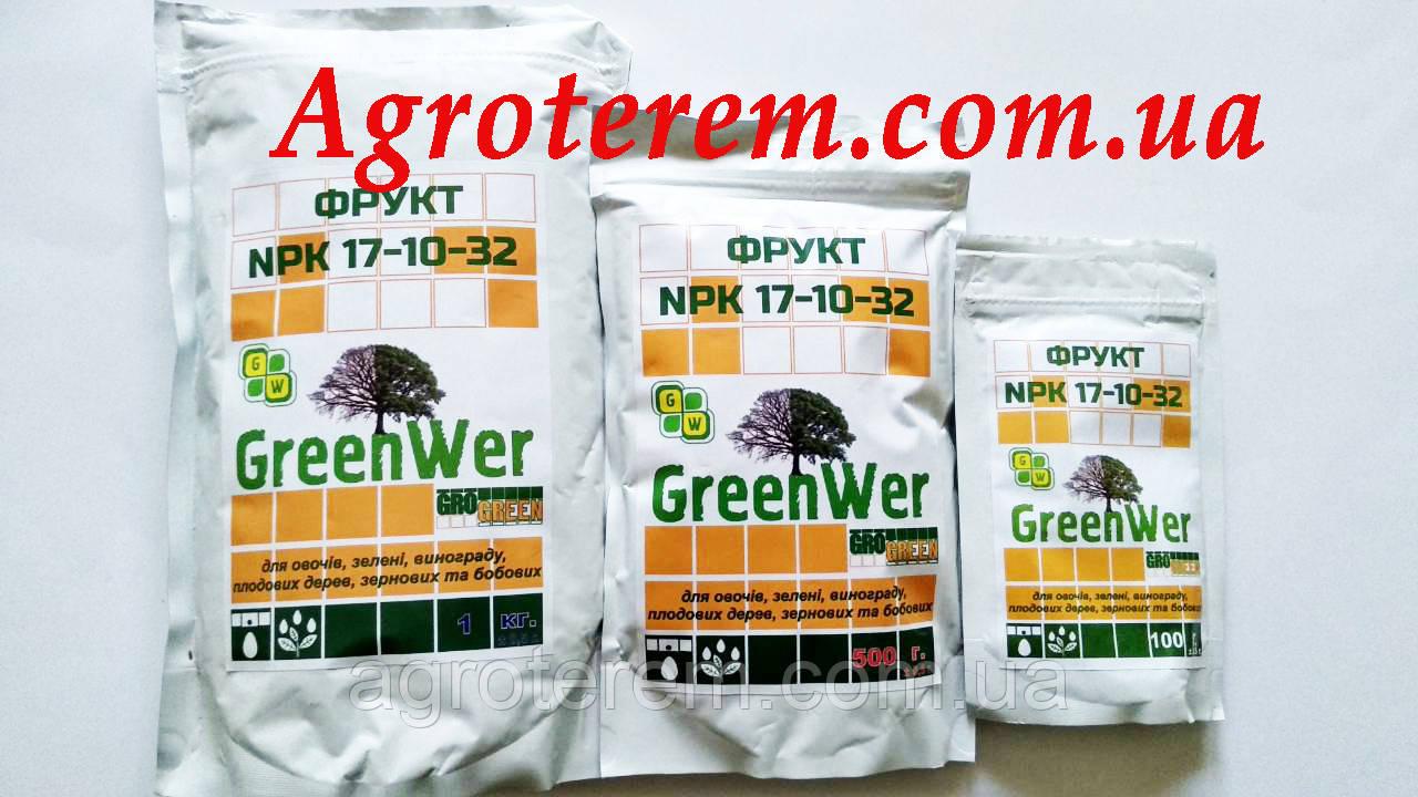 ГроГрин фрукт NPK 17-10-32+TE 500 г.