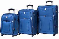 Набор чемоданов Bonro Tourist 3 штуки синий , фото 1