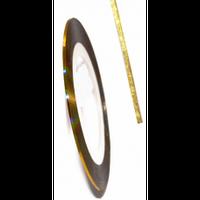 Скотч-лента для дизайна ногтей 1 мм (золото голограмма)