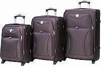Набор чемоданов Bonro Tourist 3 штуки коричневый , фото 1