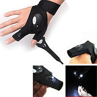 Велосипедная перчатка с LED фонариком! На правую руку!, фото 1