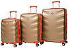 Набор чемоданов Bonro Next 3 штуки золотой