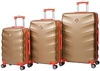 Набор чемоданов Bonro Next 3 штуки золотой , фото 1