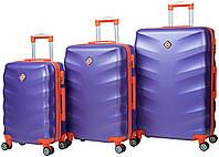Набор чемоданов Bonro Next 3 штуки фиолетовый , фото 1