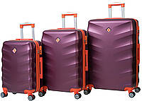 Набор чемоданов Bonro Next 3 штуки бордовый , фото 1